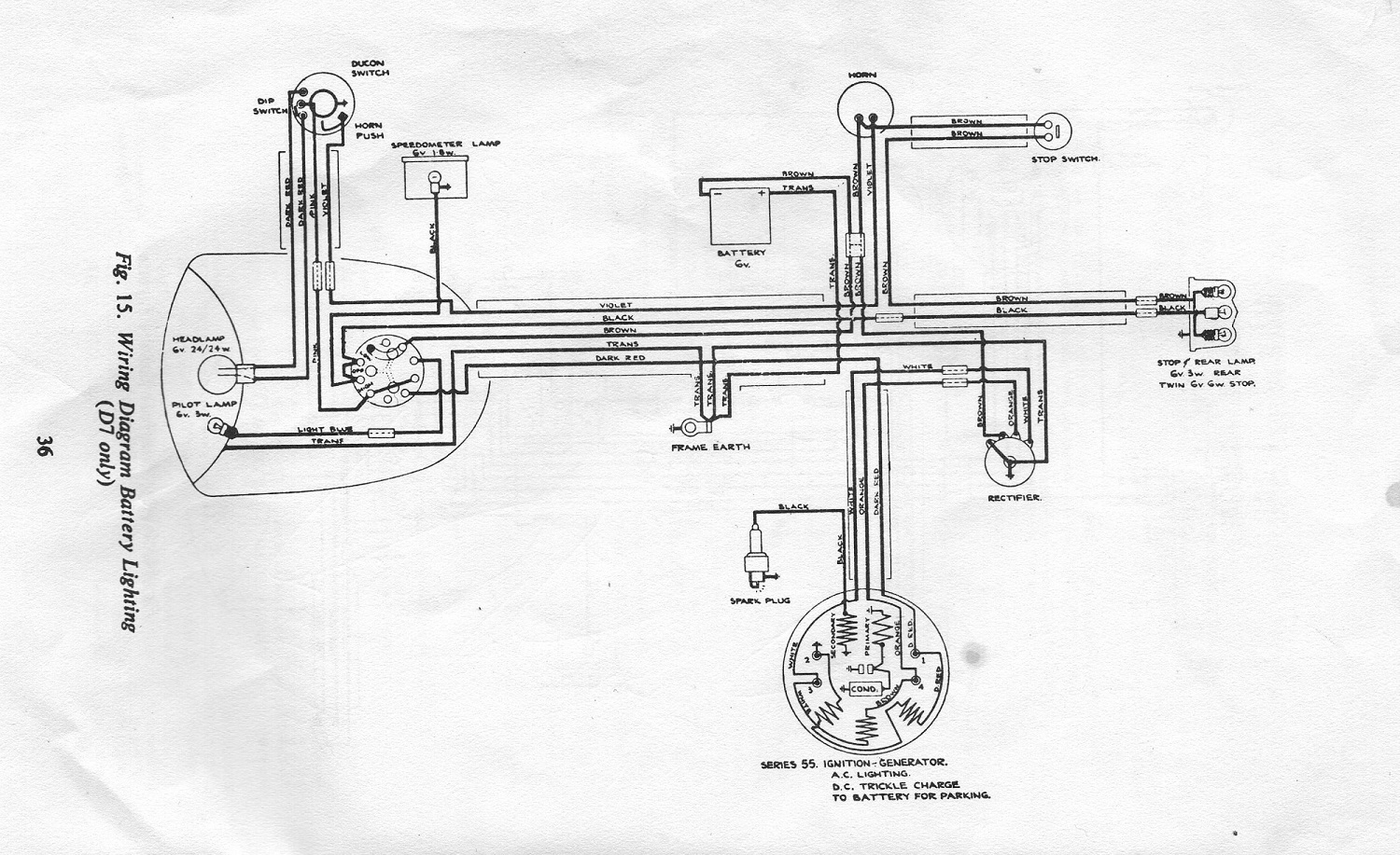 D7 battery single switch Copy homepage bsa bantam d7 wiring diagram at fashall.co