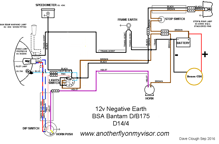 negative bsa ground wiring diagram introduction to electrical rh jillkamil com 6 Volt to 12 Volt On Wire Conversion Wiring Diagram 6 Volt to 12 Volt On Wire Conversion Wiring Diagram